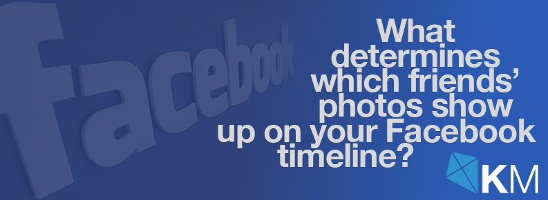 What determines which friends' photos show up on your Facebook timeline?