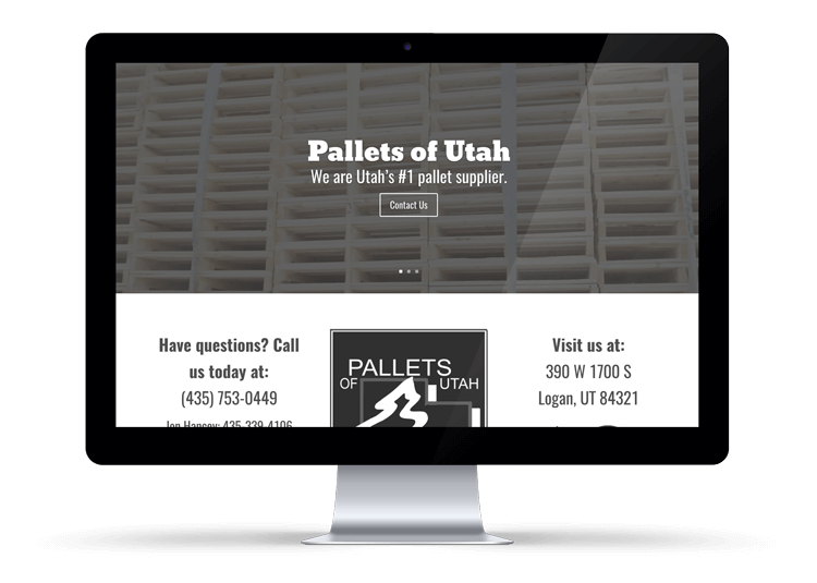 Pallets of Utah Website Design Service Logan, Utah